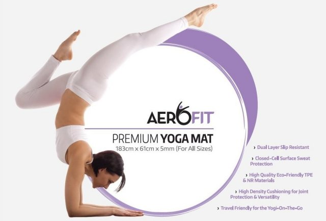 AeroFit Yoga Mat Packaging